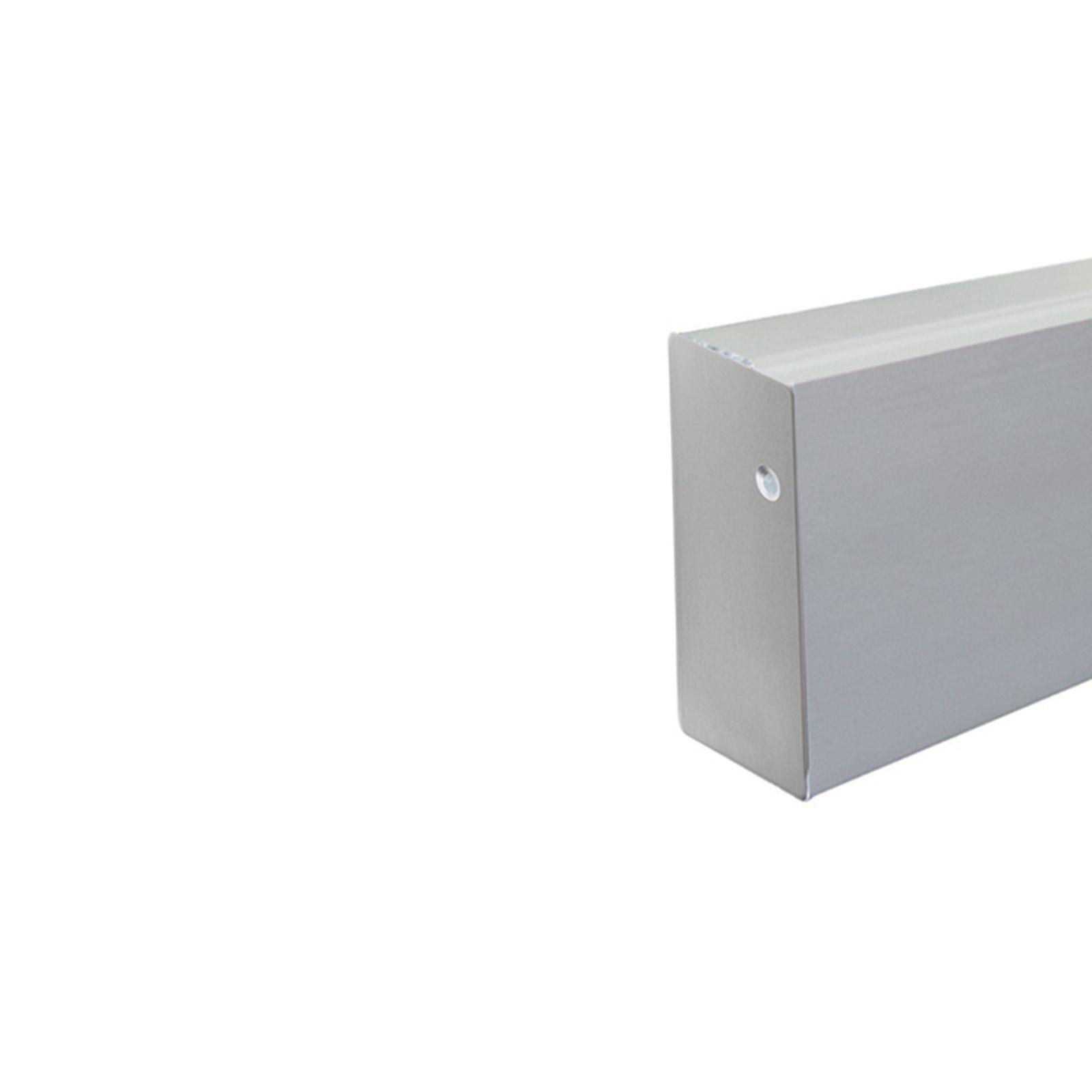 Grey aluminum side fascia