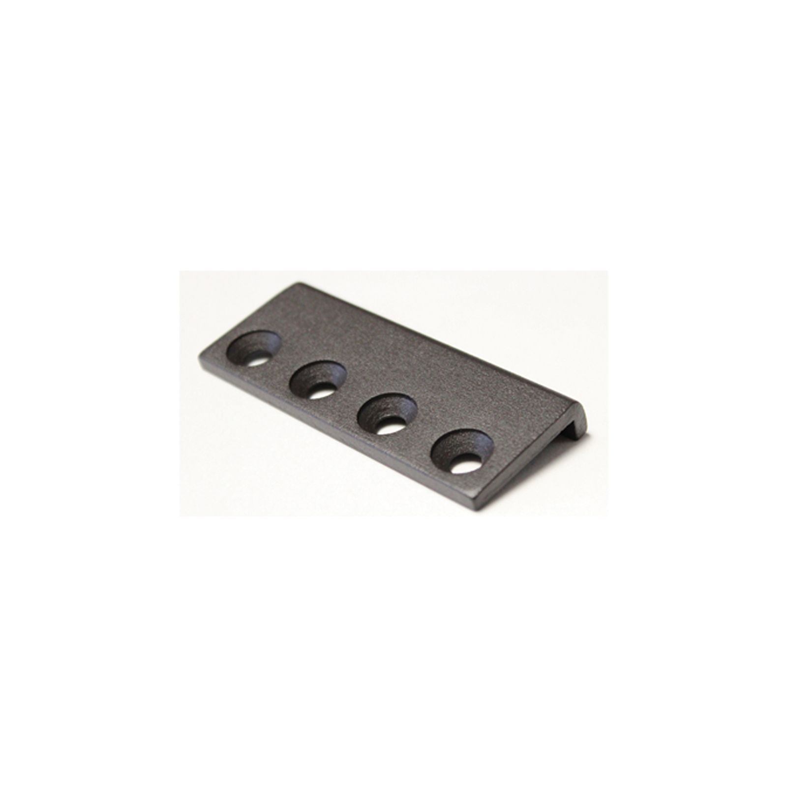 Dark brown steel track connector